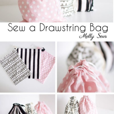 Beginner Sewing Project: Learn to Sew a Drawstring Bag