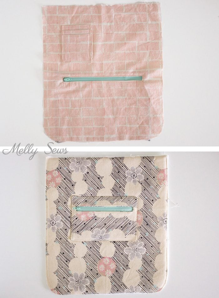 Changes 1 - Sew the perfect travel bag - converts from a messenger bag to a backpack - Melly Sews