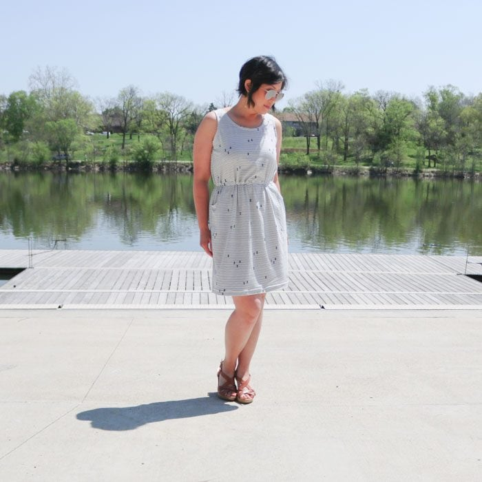 Catalina Dress sewing pattern from Blank Slate Patterns sewn by Love You Sew