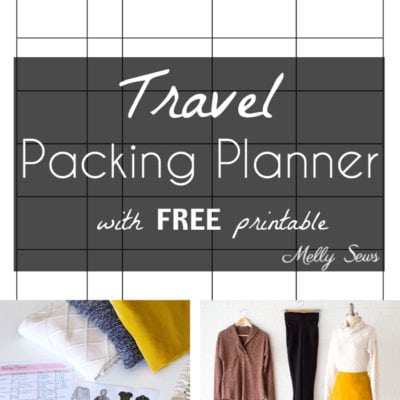 Free Travel Packing List – Wardrobe Planner