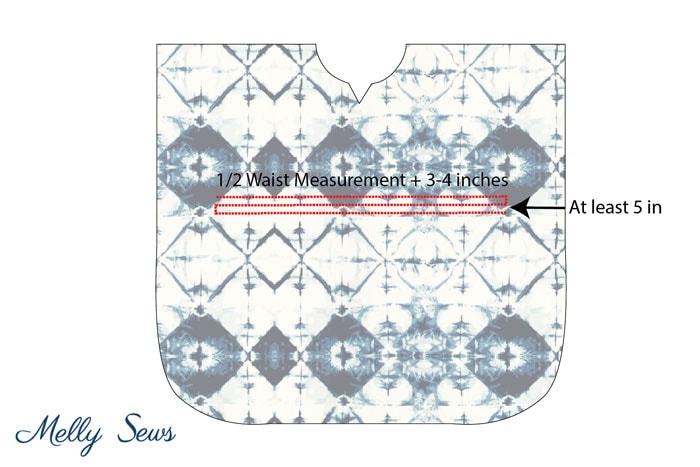 Step 3 - Make a beach cover up - Easy and cute DIY tutorial - sew a swimsuit cover - Melly Sews