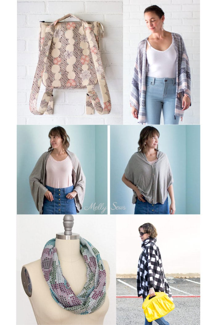 Sew layers for travel - free tutorials from Melly Sews