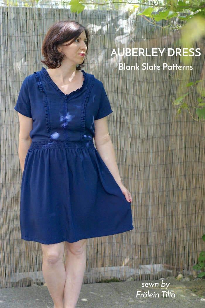 Auberley Dress sewing pattern by Blank Slate Patterns sewn by Frölein Tilia