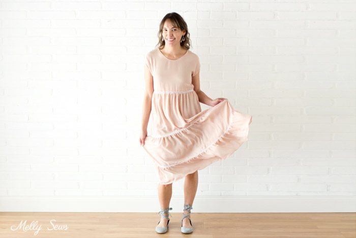 Tiered Blanc Sundress - Sew a Boho Dress - Melly Sews