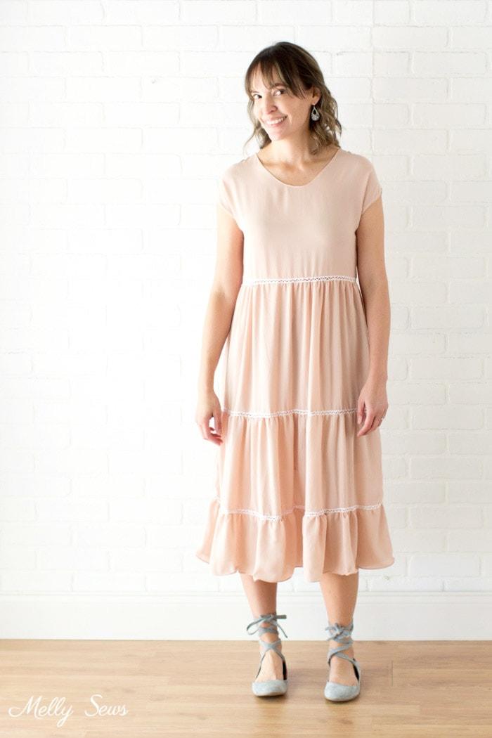 Tiered Blanc Sundress Sew A Boho Dress Melly Sews