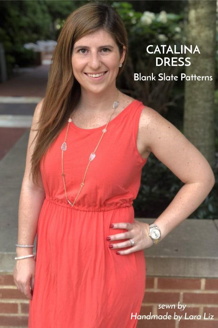 Catalina Dress sewing pattern from Blank Slate Patterns sewn by Handmade by Lara Liz