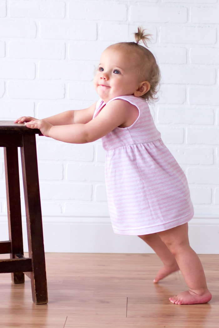 Adorable and simple Knit Baby Dress - Easy to Sew with this DIY Video Tutorial - Melly Sews