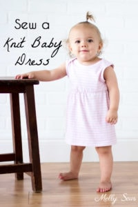 Must make! Adorable and simple Knit Baby Dress - Easy to Sew with this DIY Video Tutorial - Melly Sews