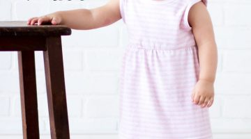 Sew a Knit Baby Dress