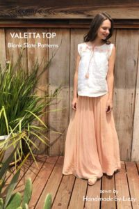 Valetta Top sewing pattern by Blank Slate Patterns sewn by Handmade by Lizzy