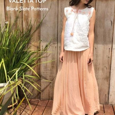 Valetta Top with Handmade by Lizzy