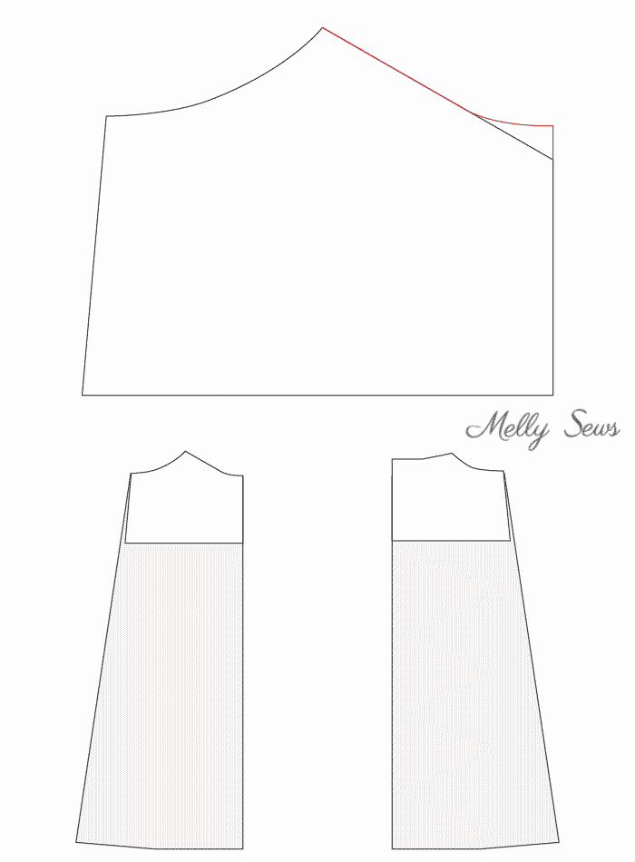 Adapt the bodice pattern - Sew a simple maxi dress - perfect for summer - DIY tutorial by Melly Sews
