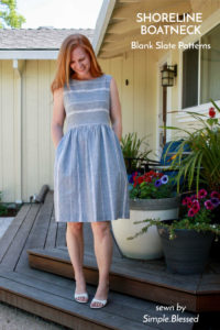 Shoreline Boatneck sewing pattern by Blank Slate Patterns, sewn by Simple.Blessed