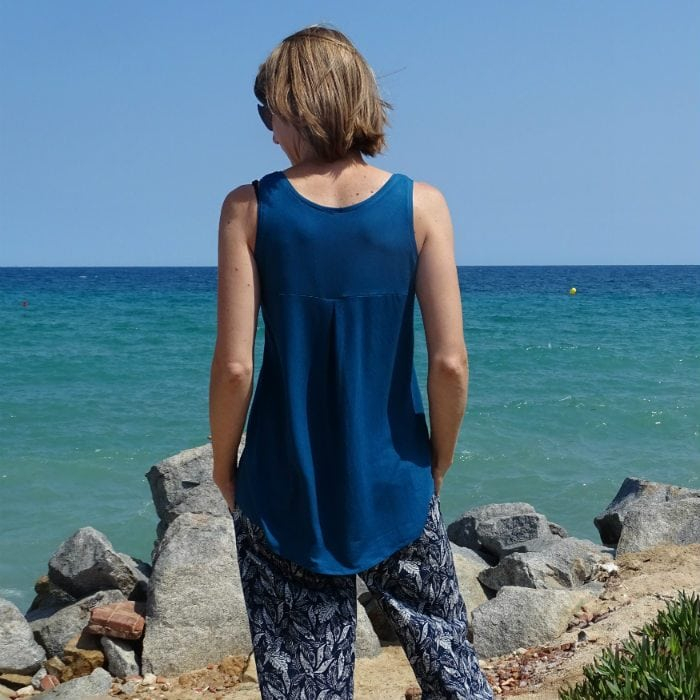 Texana Tank and Oceanside Pants sewing patterns from Blank Slate Patterns sewn by Doctora Botones