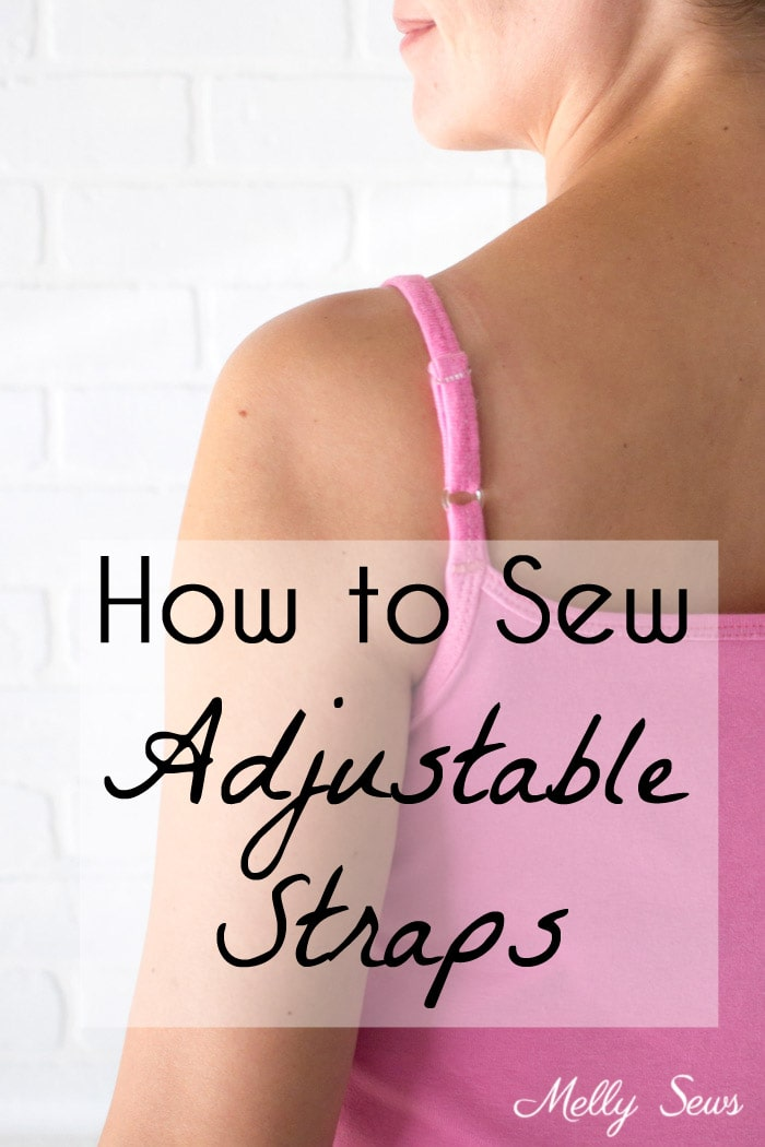 Sew Adjustable Straps - How to Install Lingerie Sliders - Melly Sews