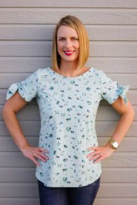 Shoreline Boatneck sewing pattern by Blank Slate Patterns sewn by Sweeter Than Cupcakes