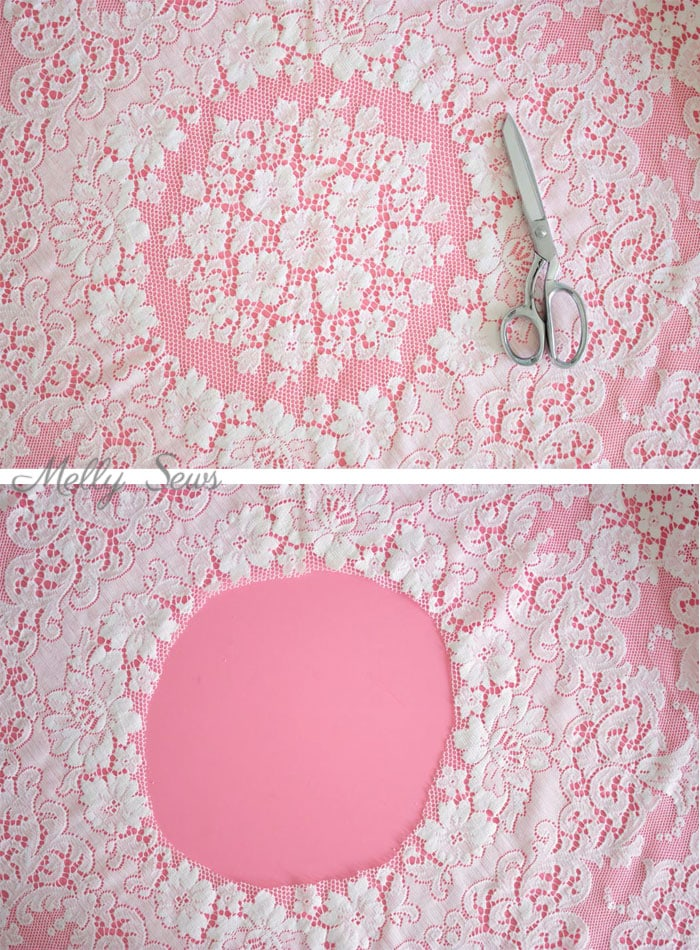 Step 1 - Turn a vintage table cloth into a skirt - sustainable sewing tutorial by Melly Sews