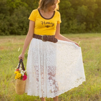 Sustainable Sewing – Tablecloth to Circle Skirt Tutorial