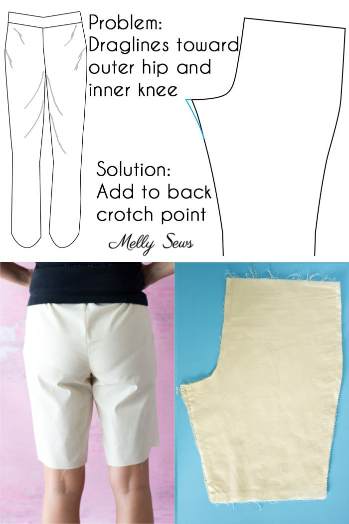 Full booty adjustment pants - Pants fitting help - How to Sew Pants that Fit - Fit Problems and Solutions - Melly Sews