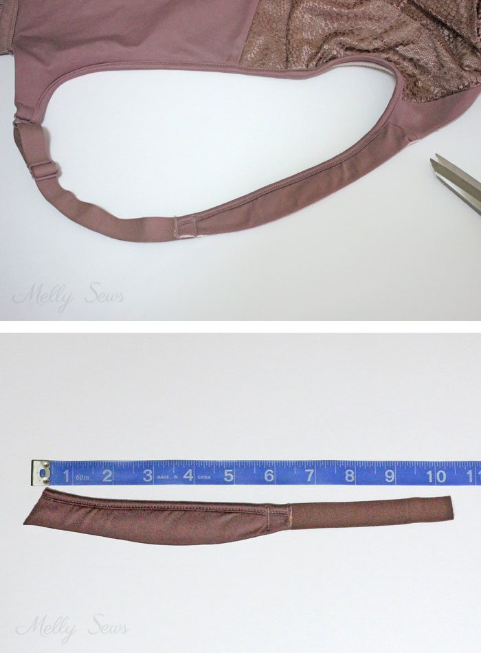 Customizing Bra Straps to wear with anything - sewing tutorial from Melly Sews