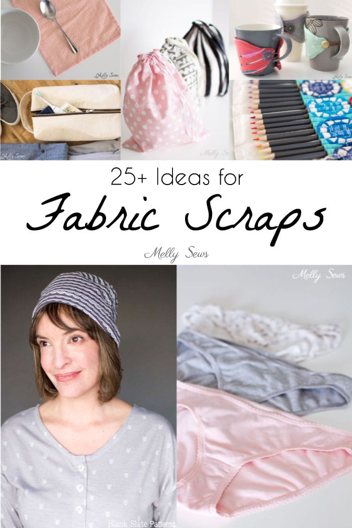Ideas for rejuvenating your fabric scraps from Melly Sews