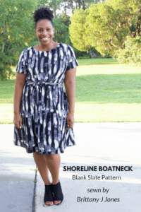 Shoreline Boatneck a Blank Slate Pattern sewn by Brittany J Jones