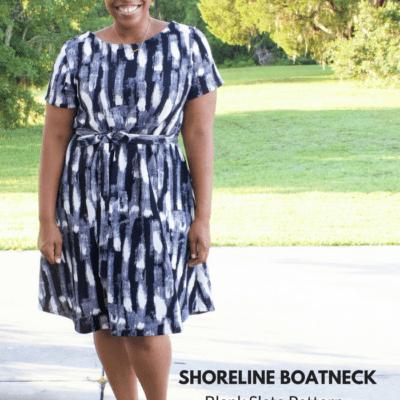 Shoreline Boatneck a Blank Slate Pattern sewn by Brittany J Jones