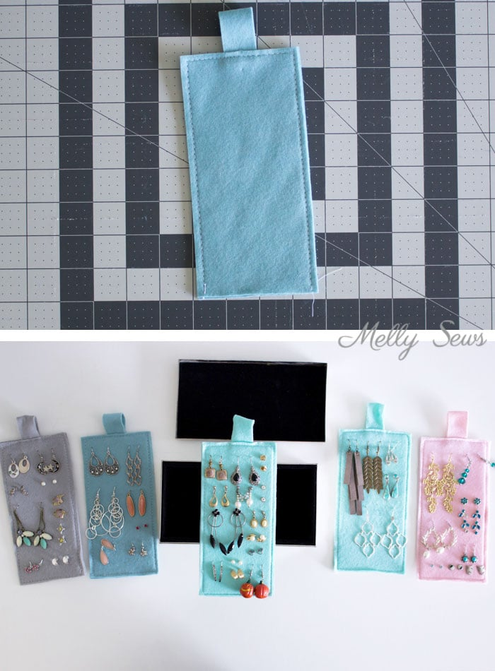 Step 2 - Organization Hack - How to Organize Earrings - Earring organization - tutorial by Melly Sews