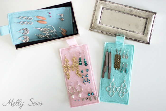 Earring Organizers Diy Earring Holder Melly Sews