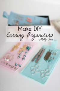 Organization Hack - How to Organize Earrings - Earring organization - tutorial by Melly Sews