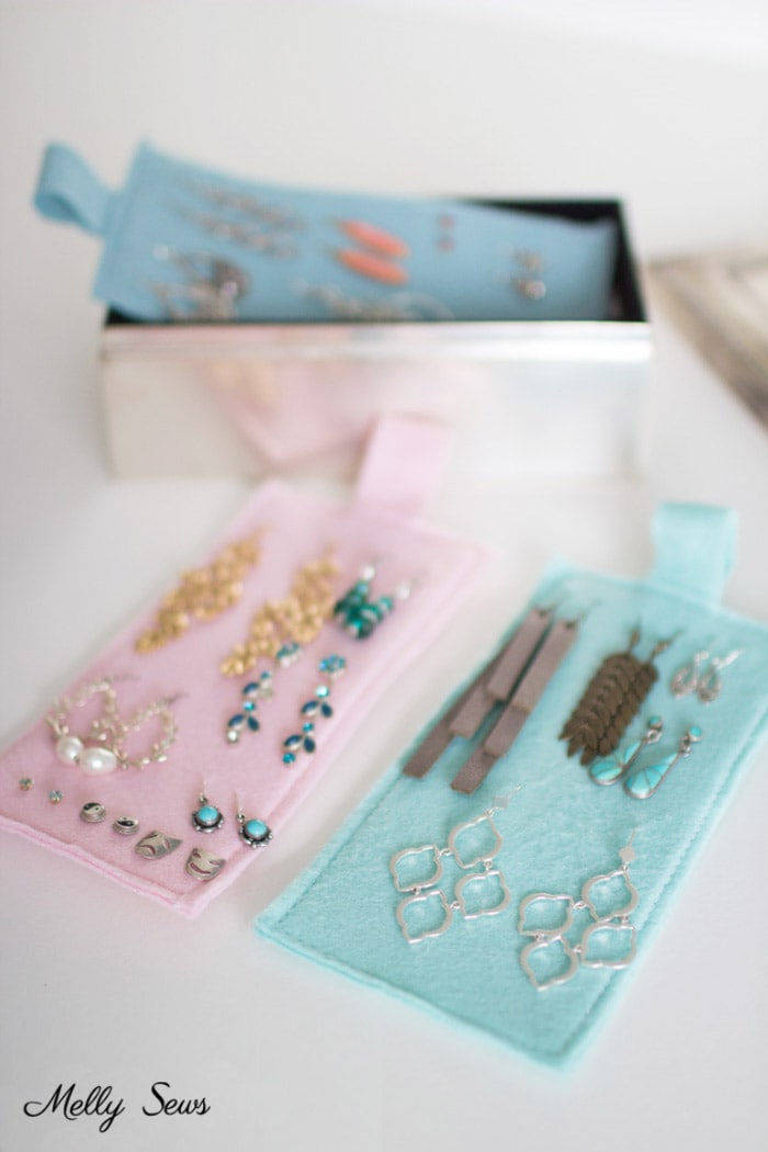 Genius idea! Organization Hack - How to Organize Earrings - Earring organization - tutorial by Melly Sews