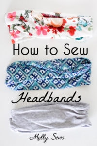 How to make a headband - sew workout hair bands with this easy tutorial - Melly Sews