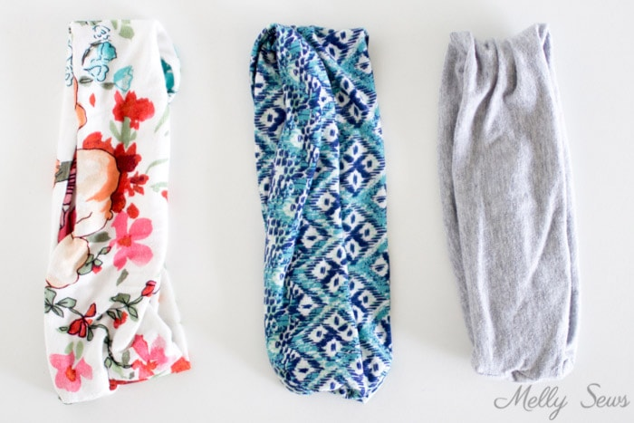 Knit headbands - How to make a headband - sew workout hair bands with this easy tutorial - Melly Sews