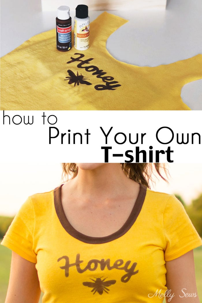How to make a custom t-shirt - DIY Tutorial to Print Your Own T-shirt by Melly Sews