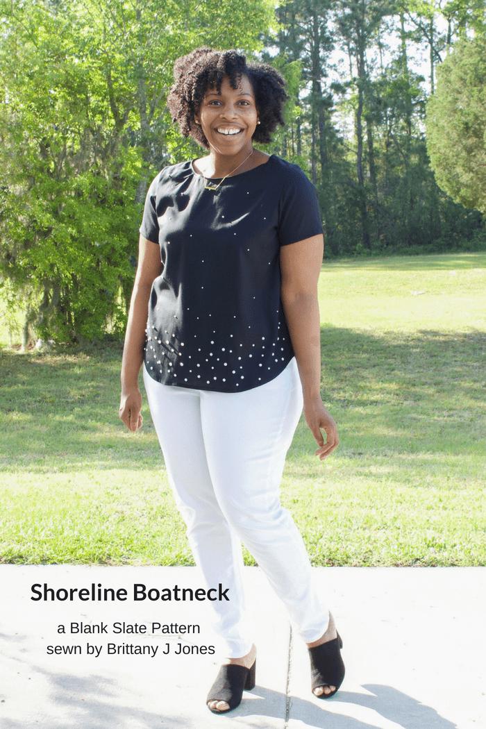 Shoreline Boatneck Sewing Pattern by Blank Slate Patterns sewn by Brittany J Jones
