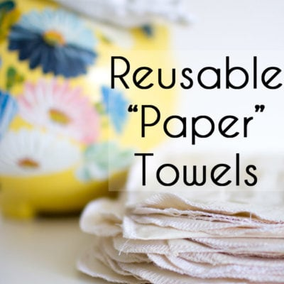 Make Reusable Paper Towels
