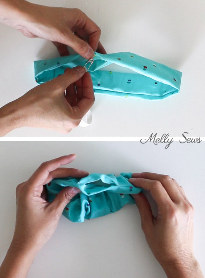 Step 3 - How to make scrunchies - DIY hair ties tutorial - Melly Sews