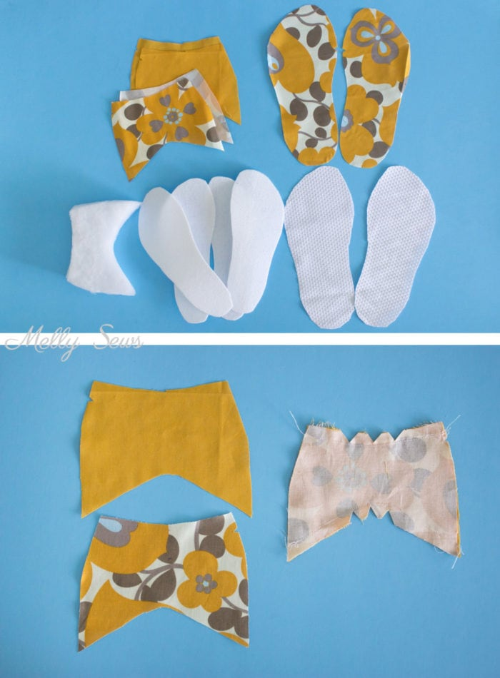 Step 1 - How to sew DIY slippers - sew house shoes - make slides with this tutorial by Melly Sews
