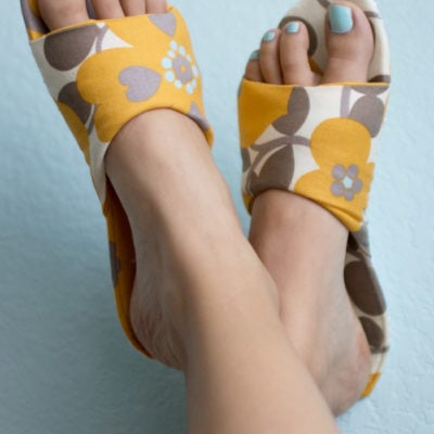Sew House Shoes for Summer – DIY Slippers