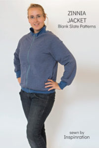 Zinnia Jacket sewing pattern from Blank Slate Patterns sewn by Inspinration
