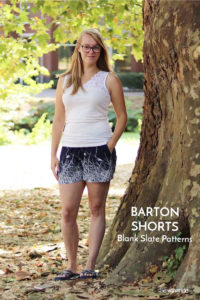 Barton Shorts sewing pattern from Blank Slate Patterns sewn by Sewingridd