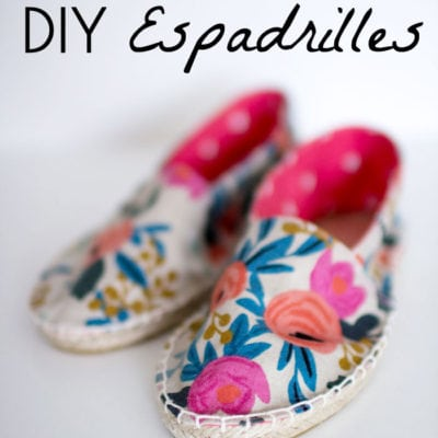How to Make Shoes – DIY Espadrilles