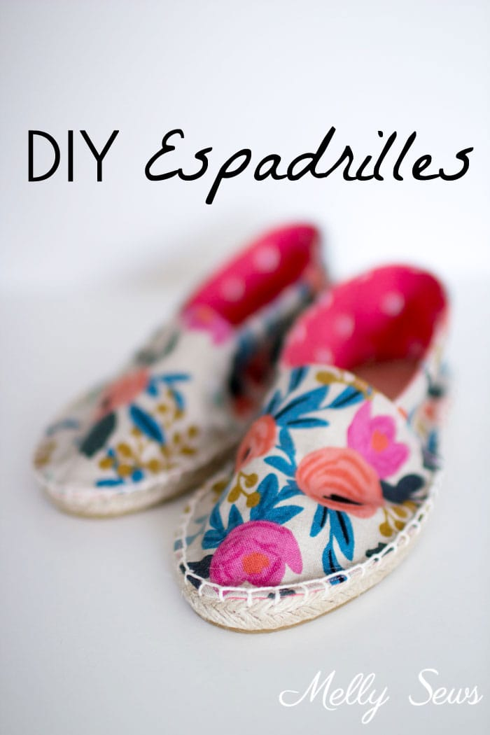 DIY Espadrilles - Make your own shoes - Melly Sews