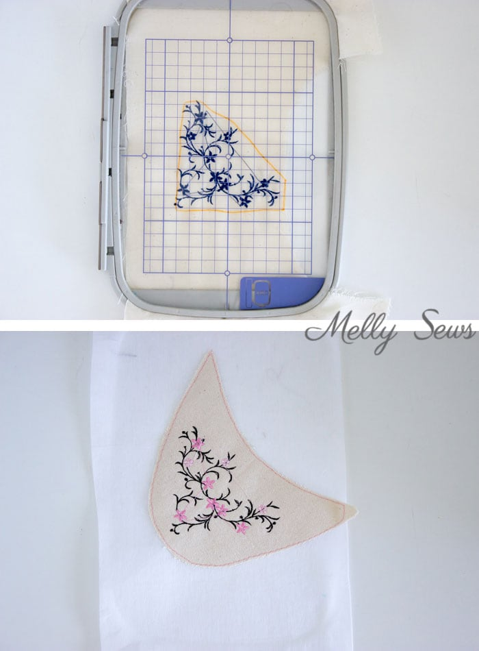 Embroidery placement guide - DIY Espadrilles - Make your own shoes - Melly Sews