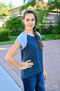 Rivage Raglan sewing pattern by Blank Slate Patterns with Hazelnut Handmade