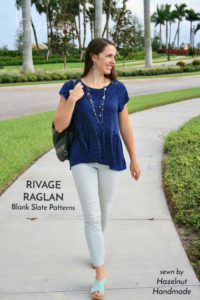Rivage Raglan sewing pattern by Blank Slate Patterns sewn by Hazelnut Handmade