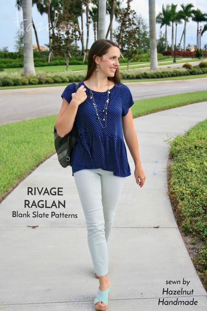 Rivage Raglan sewing pattern by Blank Slate Patterns sewn by Hazelnut Handmade