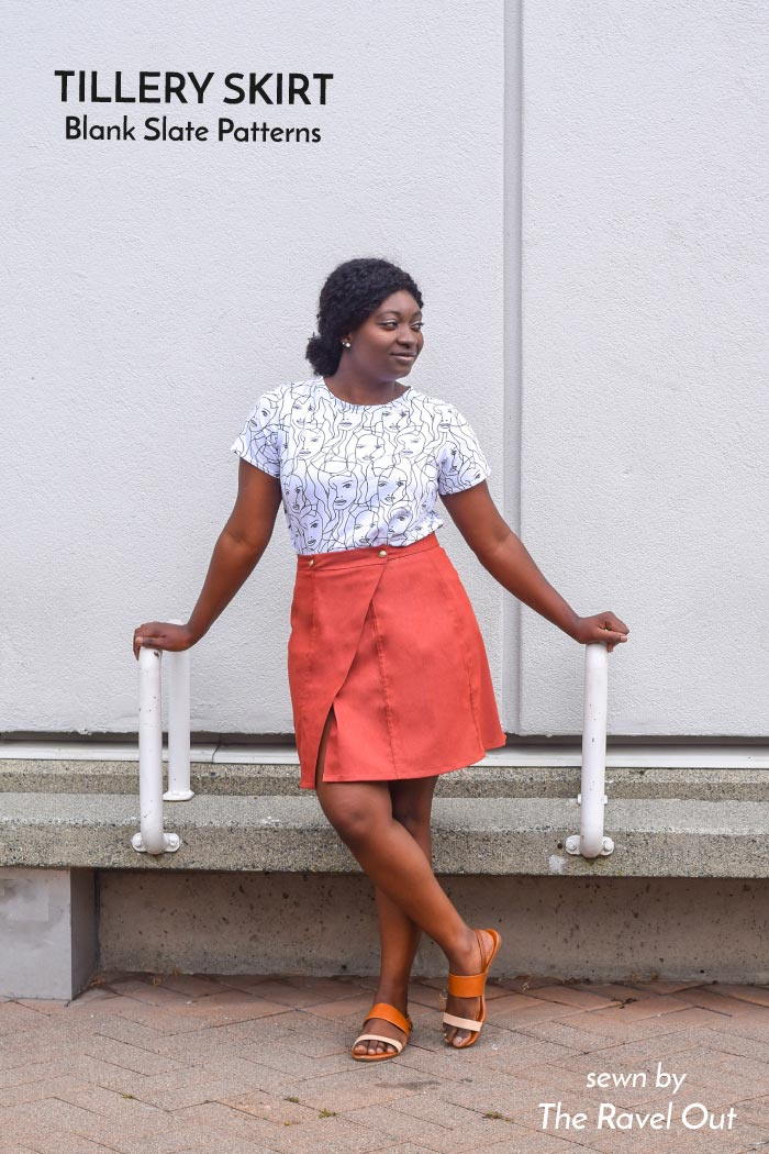 Tillery Skirt sewing pattern from Blank Slate Patterns sewn by The Ravel Out