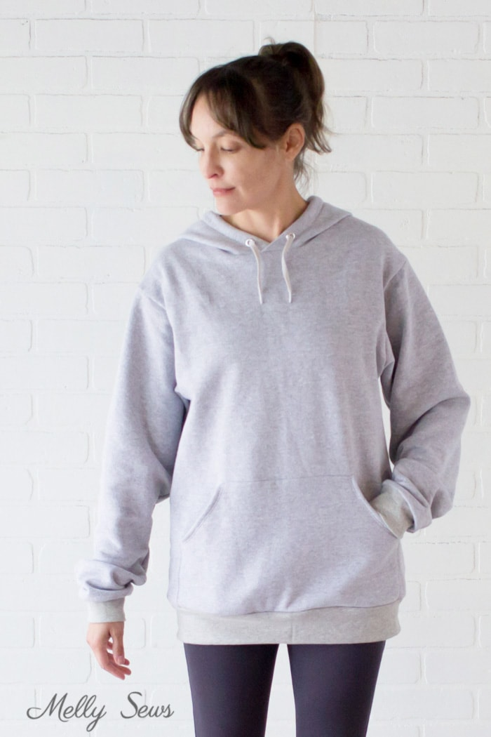 Oversized Hoodie and Leggings Outfit - Sew a Hoodie - Make a Hoodie for Men or Women - Unisex Hoody - Melly Sews