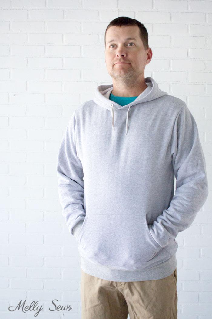 DIY Hoodie - Sew a Hoodie - Make a Hoodie for Men or Women - Unisex Hoody - Melly Sews